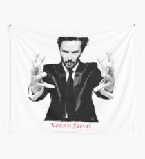 Keanu Reeves the Actor (Black and White) Wall Tapestry