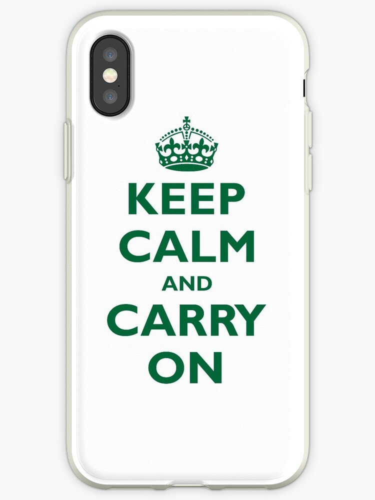 KEEP CALM and CARRY ON green color by igorsin