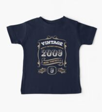 9th Birthday Gift Gold Vintage 2009 Aged Perfectly Baby Tee