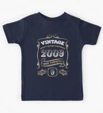 9th Birthday Gift Gold Vintage 2009 Aged Perfectly Kids Tee