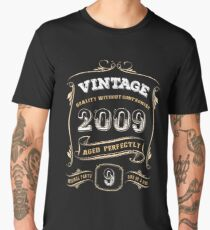 9th Birthday Gift Gold Vintage 2009 Aged Perfectly Men's Premium T-Shirt