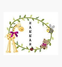 Hannah - Nursery Names Photographic Print