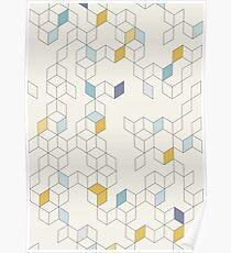 Keziah - Day x Scandinavian geometric pattern Poster