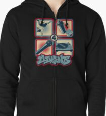 4 Elements of Hip Hop Zipped Hoodie