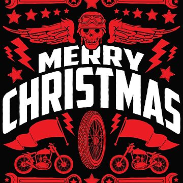 Motorcycle Ugly Christmas Sweater Artwork by wearweird