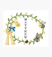 Matthew - Nursery Names Photographic Print