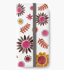 Pink Floral Garden iPhone Wallet/Case/Skin