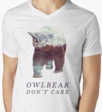 Owlbear Don't Care Men's V-Neck T-Shirt