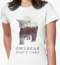 Owlbear Don't Care Women's Fitted T-Shirt