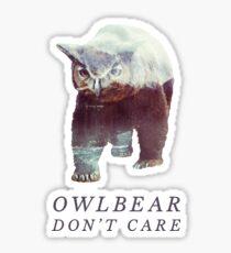 Owlbear Don't Care Sticker