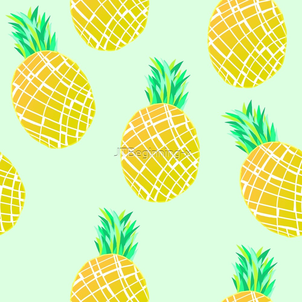 Green Pineapple Pattern by JustTheBeginning-x (Tori)