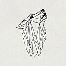 Geometric Howling Wild Wolf by DesignByLang