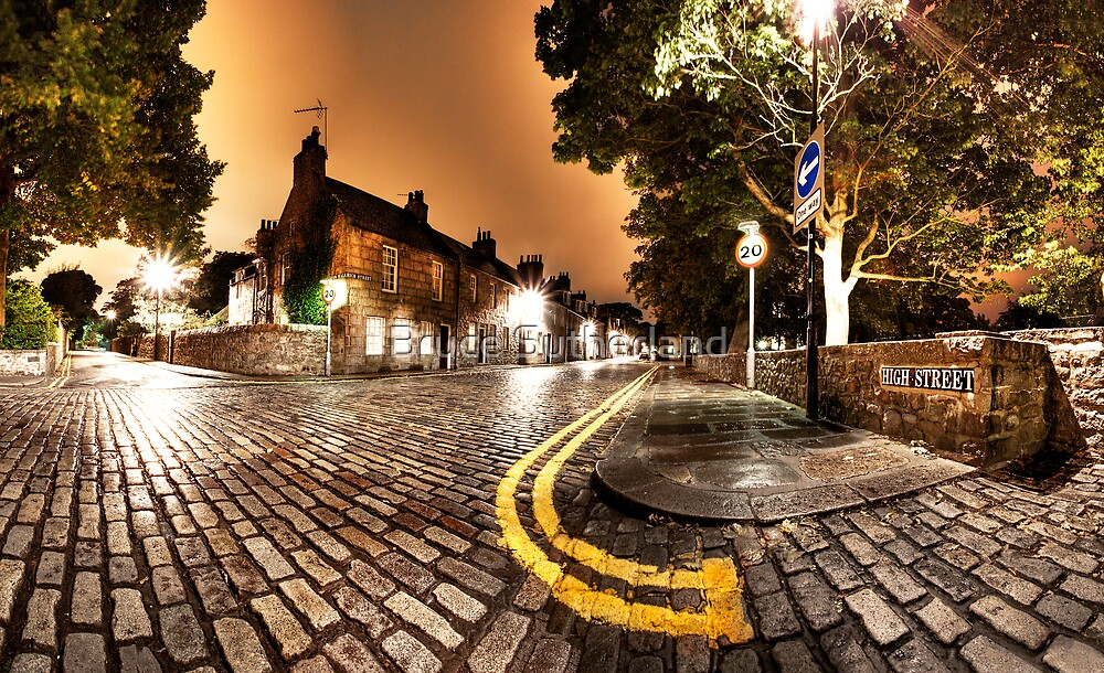 Old Aberdeen High Street by Bruce Sutherland