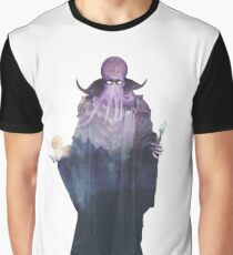 Mind Flayer (Illithid) Dnd /D&D / Dungeons and Dragons Double Exposure Modern Art Graphic T-Shirt