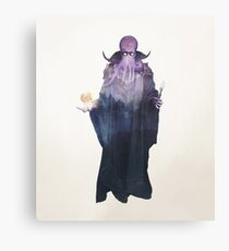 Mind Flayer (Illithid) Dnd /D&D / Dungeons and Dragons Double Exposure Modern Art Canvas Print
