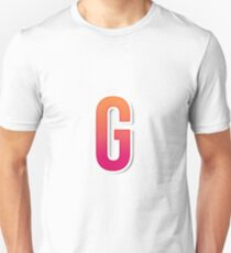 The Letter G Typography Sticker Unisex T-Shirt