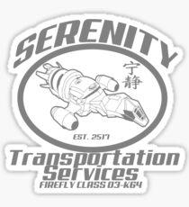 Serenity transportation services Sticker