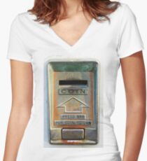 Coin Slot Women s Fitted V-Neck T-Shirt f16c29930