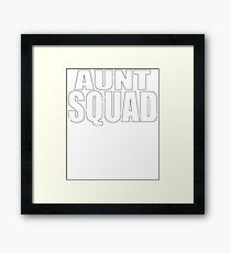 Aunt Squad Worlds Best Aunt T-Shirt Cute Funny Shirt Baby Shower Gender Reveal Party Framed Print