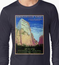 Vintage Zion National Park Travel Long Sleeve T-Shirt