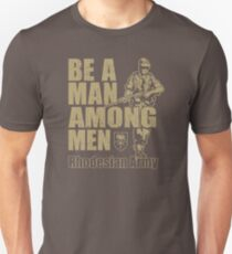 Be A Man Among Men  Rhodesian Army Recruitment Poster YX785 Best Product Slim Fit T-Shirt