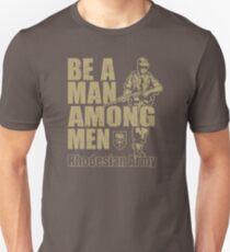 Seien Sie ein Mann unter den Männern Rhodesian Army Recruitment Poster YX785 Bestes Produkt Slim Fit T-Shirt