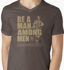 Seien Sie ein Mann unter den Männern Rhodesian Army Recruitment Poster YX785 Bestes Produkt T-Shirt mit V-Ausschnitt