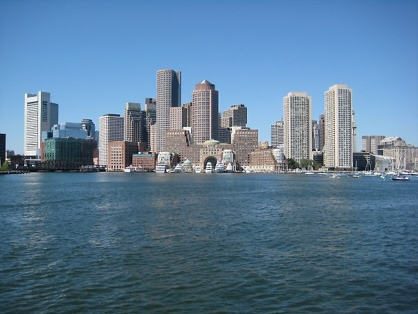 Boston from the harbour by Katie Goldsmith