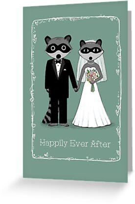 Raccoons Wedding by Jenn Inashvili