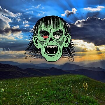 nice view ruined by scary zombie face by happymigrane