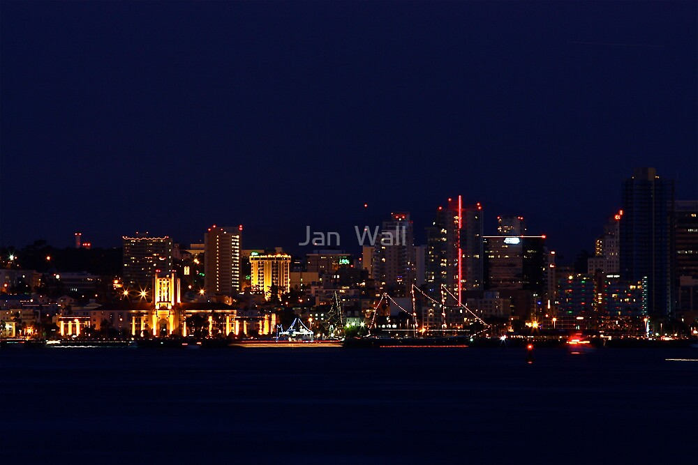San Diego by Night by Jan  Wall
