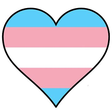 Trans flag pride heart by thekaym