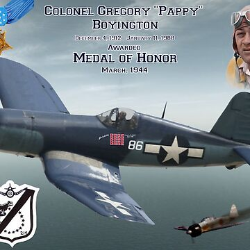 "Medal of Honor ""Pappy"" Boyington by BasilBarfly"