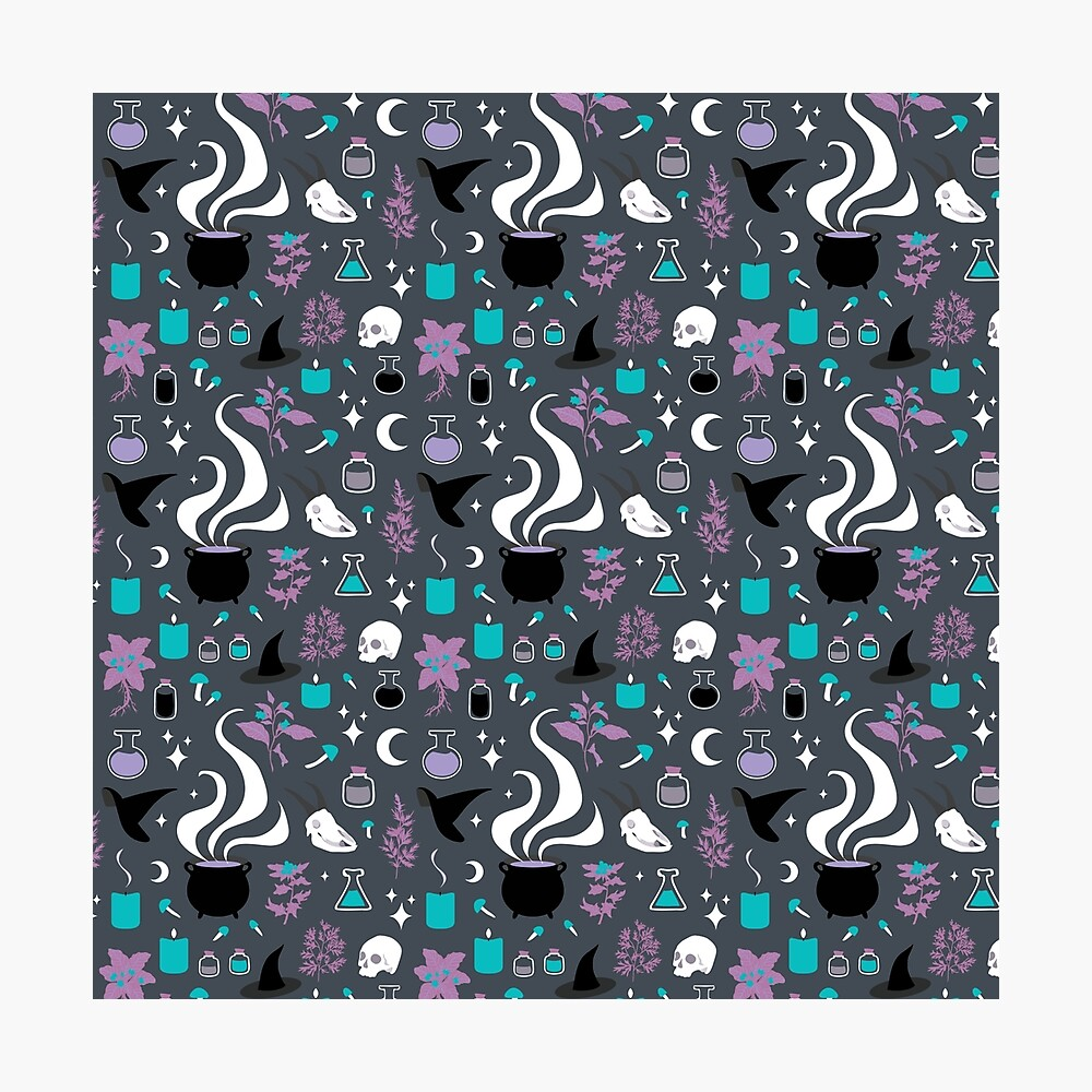 Witchy Pattern - Dark Photographic Print