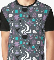 Witchy Pattern - Dark Graphic T-Shirt