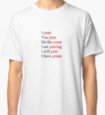 yeet verb chart Classic T-Shirt