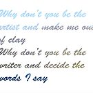 Song lyrics by Bello Designs
