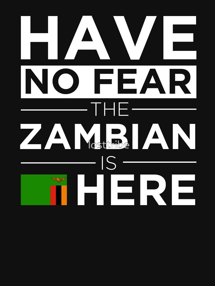 Habe keine Angst Das Sambische ist hier Stolz Stolz Sambia von losttribe