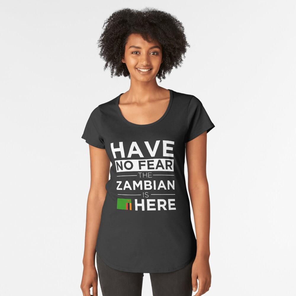 Habe keine Angst Das Sambische ist hier Stolz Stolz Sambia Premium Rundhals-Shirt