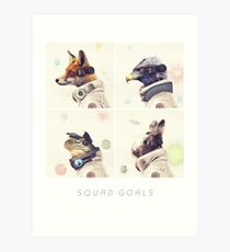 Star Team - Squad Goals Art Print