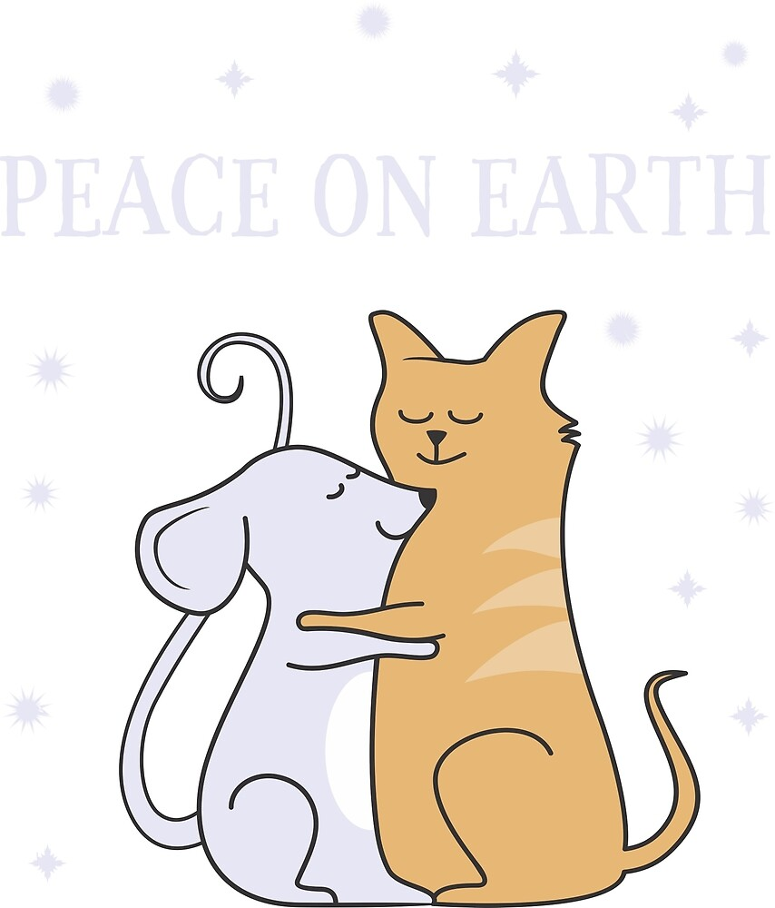 Peace on earth Mouse & Cat by staydainty