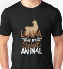 Cute Llama Is My Spirit Animal Print Unisex T-Shirt
