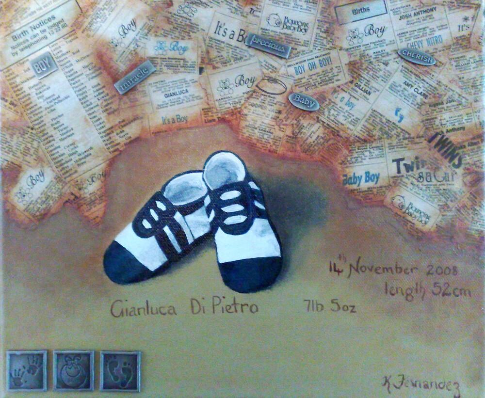 Gianluca's Baby Shoes by Karen McGrath