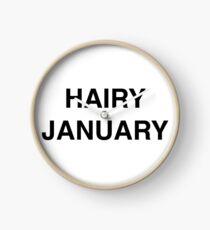 Hairy January Clock