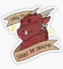 I Roll to Seduce the Dragon Sticker