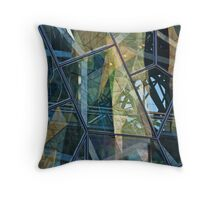 Federation Square Reflections Throw Pillow