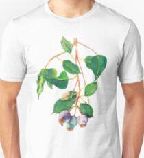 Eucalyptus branch with gumnuts - watercolour Unisex T-Shirt