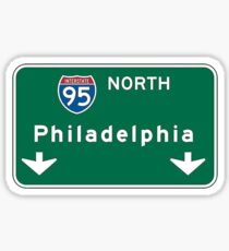 Philadelphia Pennsylvania PA Interstate 95 Street Sign  Sticker