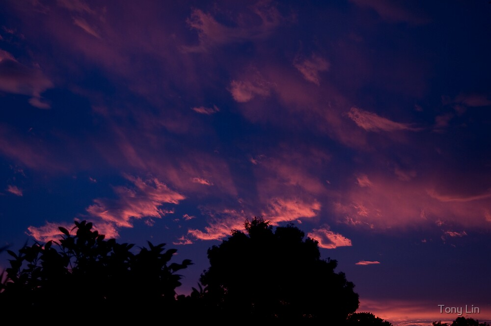 Tonights Amazing Sunset Colours by Tony Lin