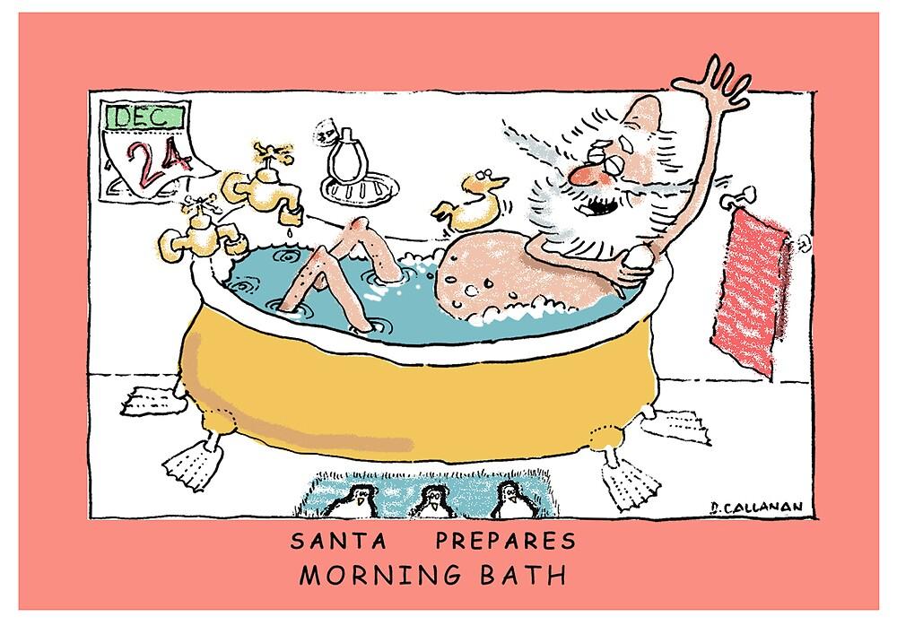 Santa Prepares- Morning Bath by DamianCallanan